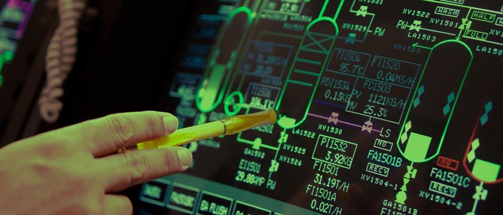 Ansicht eines industrielle Kontrollsystem (ICS)